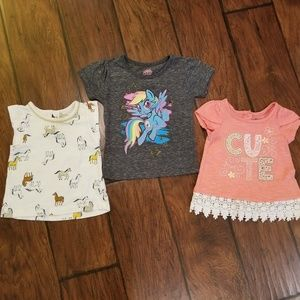 Carter's/Nannette/My little pony tops